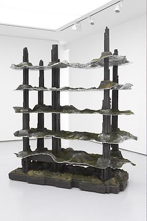 <i>Megastructure</i>, 2008 Resin, steel, styrofoam, metal foil, pigments 91 x 81 x 35 inches (231.1 x 205.7 x 88.9 cm)