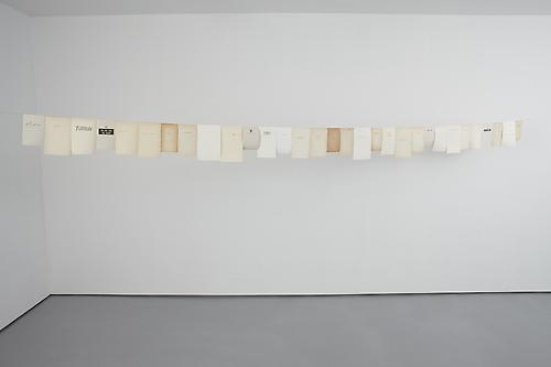 <i>Timeline I</i>, 2010 31 book pages and copper wire Length 19 ft 10 in (604.5 cm)