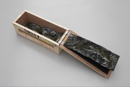 <i>Haul IXX</i>, 2009 Wood, resin, pigments 11 x 27 x 10.5 inches (27.9 x 68.6 x 26.7 cm)  (variable)