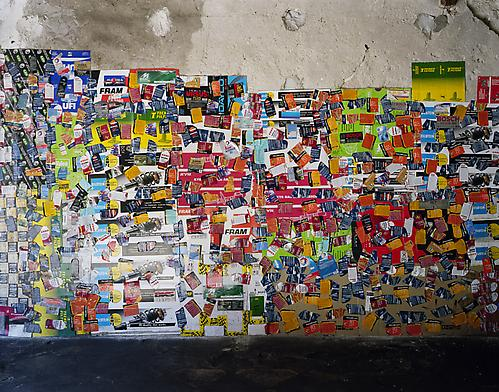 <i>Auto Part Labels (The New Antiquity)</i>, 2009  C-print 42 x 53 inches (106.7 x 134.6 cm)