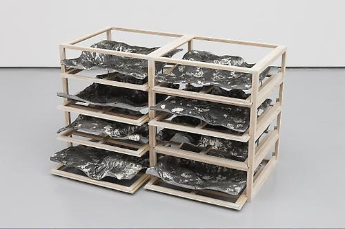 <i>Untitled 1/3</i>, 2009 Wood, resin, pigments, steel, epoxy 21 x 33 x 15 inches (53.3 x 83.8 x 38.1 cm) KS 1847