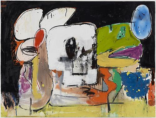 Eddie Martinez Untitled, 2012 Oil paint and spray paint on canvas 36 x 48 inches (91.4 x 121.9 cm)