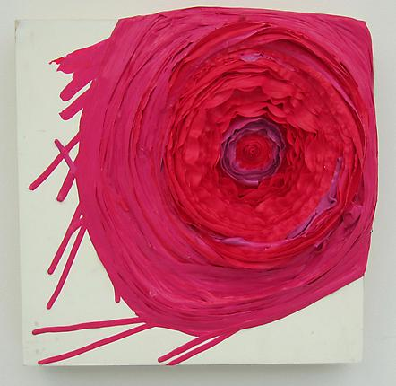 Erika Keck Rose bud, 2012  acrylic on board  12 x 12 inches (30.5 x 30.5 cm)