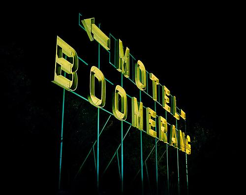 <i>Motel Boomerang (The New Antiquity)</i>, 2008 C-print 43 1/4 x 54 1/2 inches (109.9 x 138.4 cm)