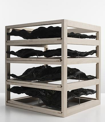<i>Untitled (drawer unit)</i>, 2009 Beechwood, resin, pigments 19 x 30 x 34 inches (48.3 x 76.2 x 86.4 cm) (variable)