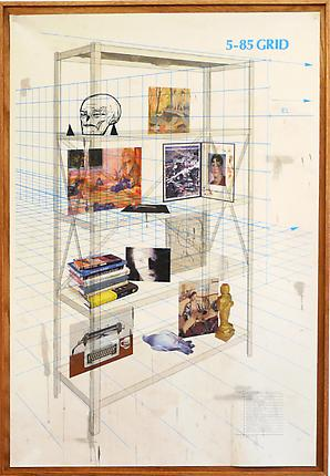<i>Play It as It Lays/Sentimental Education</i>, 2008 Acrylic, pencil, silkscreen, and inkjet on canvas 77 x 53 inches (195.6 x 134.6 cm)