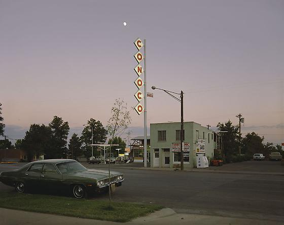 Stephen Shore Conoco Sign, Center St, Kanab, Utah, August 9, 1973