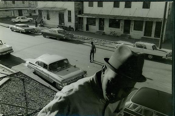 Avenue F, Heart of the Negro Neighborhood, From Lloyd and Connie's Room, Galveston, 1967