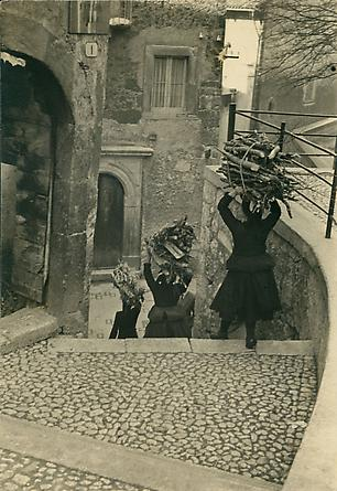 Firewood, Christmas Eve, Scanno, Italy, 1953