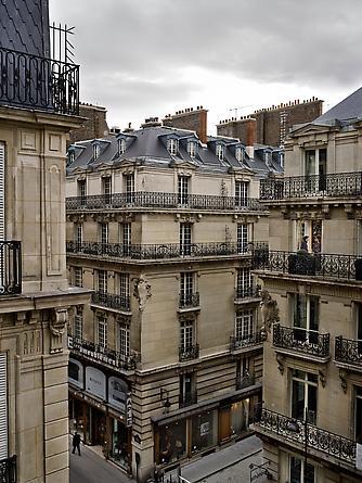 Le 30 octobre 2012, rue Auber, Paris-9e