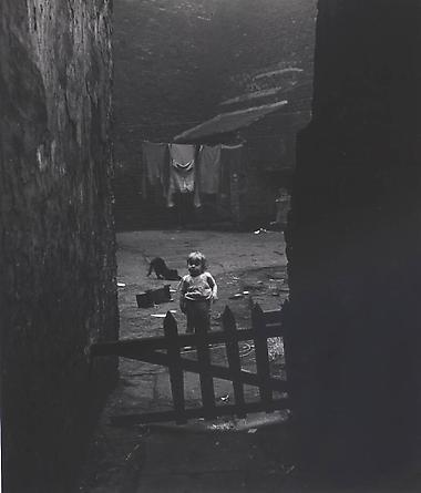 Backyard in Sheffield Slums, 1937
