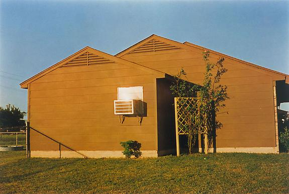 William Eggleston Untitled (brown house in sunshine), Memphis, TN, 1971-74 [From Dust Bells 2]