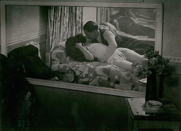 "Couple Allonge dans une ""Maison d'Illusion"", c. 1932"