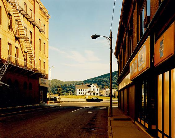 Stephen Shore  Holden Street, North Adams, Massachusetts, July 13, 1974