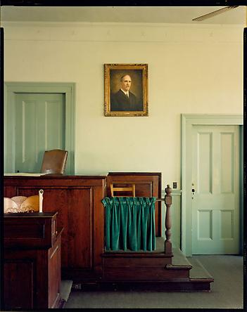 Stephen Shore Greene County Courthouse, Greensboro, Georgia, January 28, 1976
