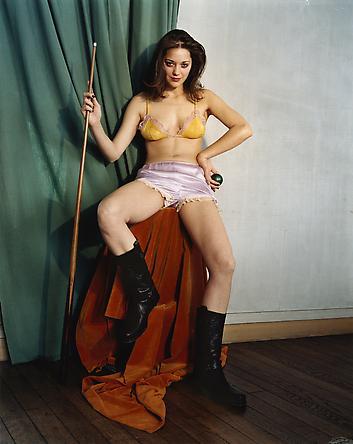 La sublime joueuse de billard, Marion Cotillard, Maisons-Laffitte, juin 2002