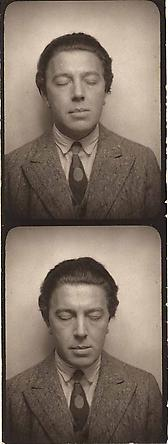Andre Breton, Self Portrait, Photomaton, c. 1929