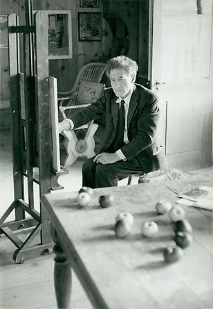 Alberto Giacometti in his studio, c. 1960