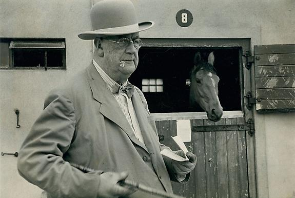 At Curragh Racecourse, near Dublin, Ireland, 1955