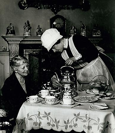 Parlourmaid Serving Tea, Mayfair, 1936