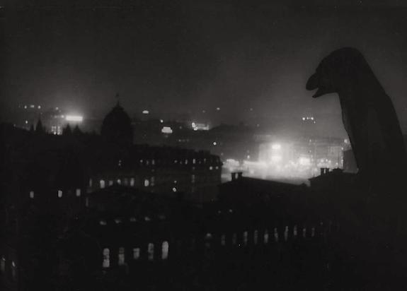 Nocturnal View of Notre Dame Overlooking the Hotel-Dieu, c. 1933