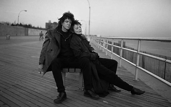 Lou Reed and Laurie Anderson, Coney Island, New York, 1995