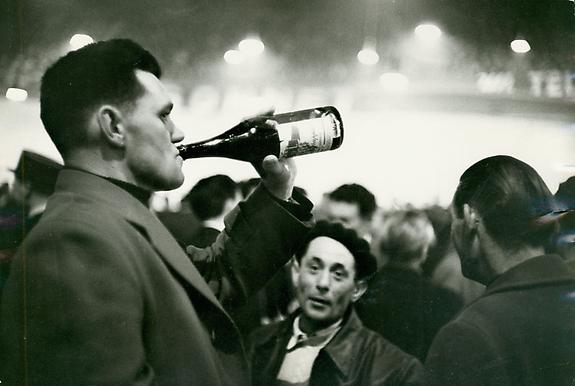 At the Vélodrome d'Hiver, Paris, 1957