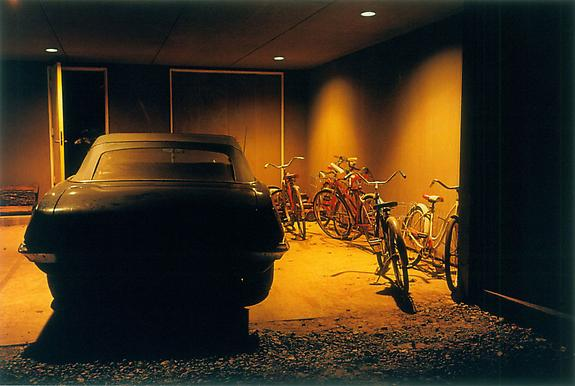 William Eggleston Untitled (car & bikes in garage), Memphis, TN, 1970