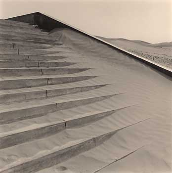 Cemetary Steps, Dunhuang, 2001