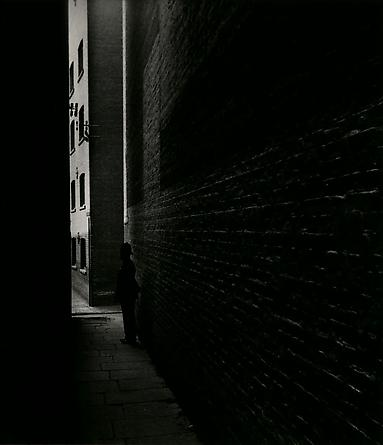 Policeman in a Dockland Alley, Bermondsey, 1938