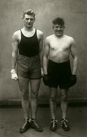 August Sander Boxers, Paul Röderstein and Hein Hesse, Cologne, 1929 © Die Photographische Sammlung/SK Stiftung Kultur, August Sander Archiv, Köln; ARS, NY