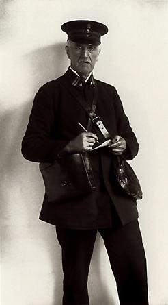 August Sander Registered Letter Mailman, 1925 © Die Photographische Sammlung/SK Stiftung Kultur, August Sander Archiv, Köln; ARS, NY