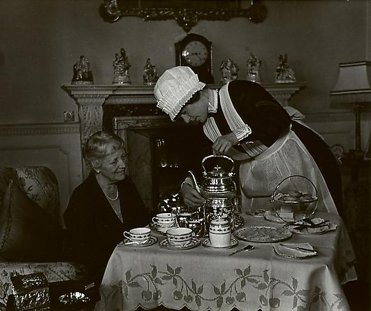 Parlourmaid Serving Tea, 1934