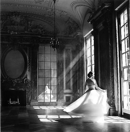 Bernadette twirling, Burden Mansion, New York City, 1997
