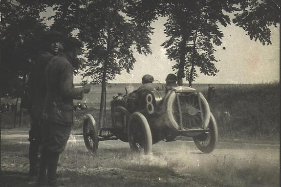 Boillot Driving a Peugeot, Grand Prix ACF, 12 July 1913 [#22A]