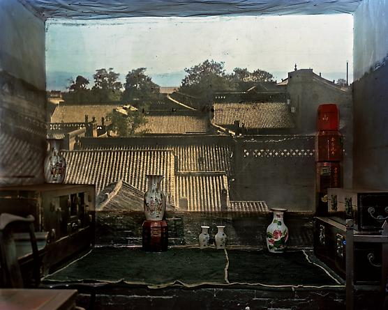 Camera Obscura: View in a Second Floor Room with Vases, Pingyao, China, 2009