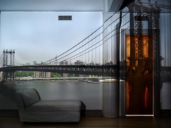 Camera Obscura: View of the Manhattan Bridge – April 30th / Morning, 2010