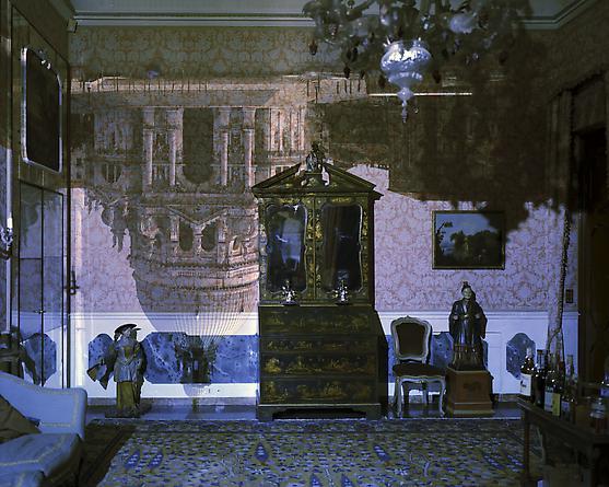 Camera Obscura of Santa Maria della Salute Inside Palazzo Livingroom, Venice, Italy 2006