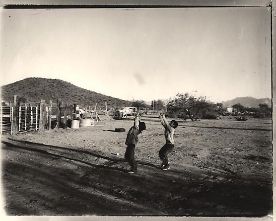 Catching a Football, near Sells, Arizona, 1997