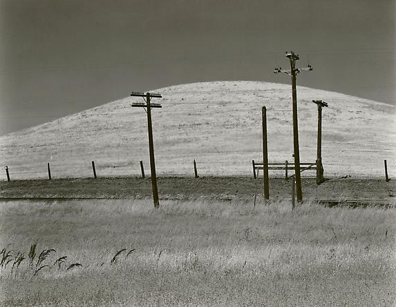 Hill & Telephone Poles, 1937