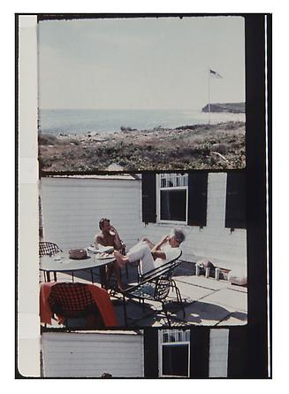 Jonas Mekas Elia Kazan and Peter Beard Montauk, August 1972