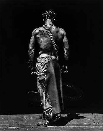 Fred Backview with Chain, Hollywood, 1984