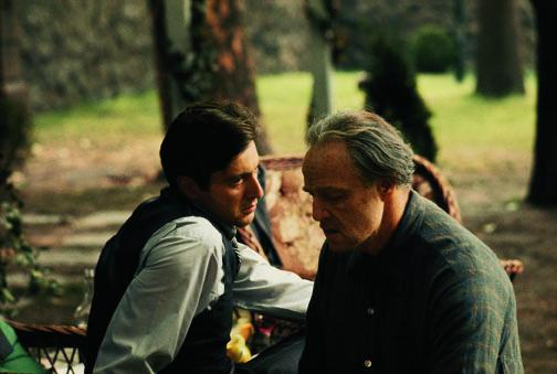 Brando and Pacino in the Garden, 1971