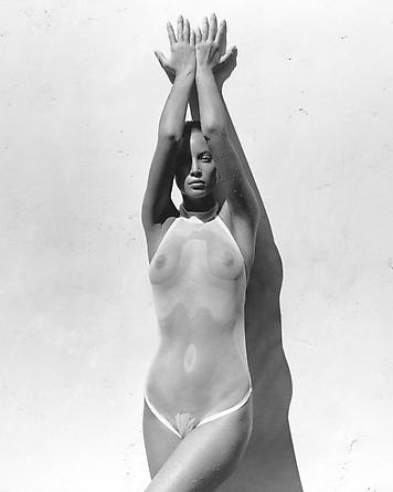Herb Ritts Christy in White, Los Angeles, 1988