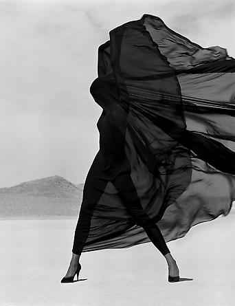 Herb Ritts_Versace - Veiled Dress, El Mirage, 1990