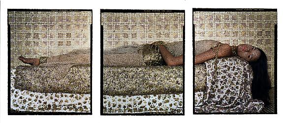 Bullets Revisited #3, triptych, 2012