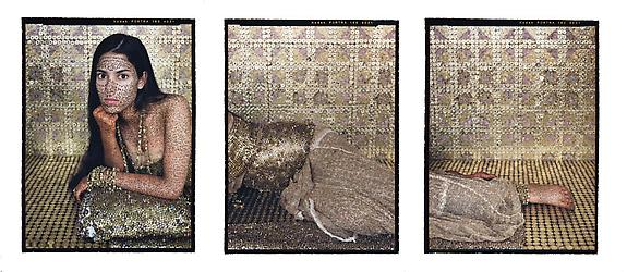 Bullets Revisited #4, triptych, 2012