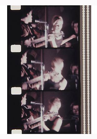 Jonas Mekas Lou Reed and Eddie Sedgwick at the first public performance of the Velvet Underground, New York Society of Clinical Psychiatry 43rd Annual Dinner, Hotel Delmonico, January 13, 1966