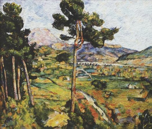 Montagne Sainte Victoire, seen from Montbriand, After Cezanne, 2006 From Pictures of Pigment