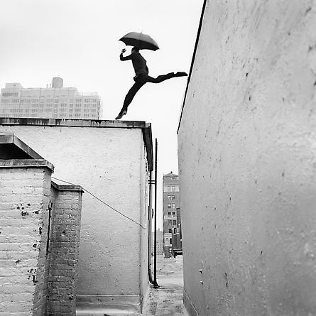 Reed Leaping Over Rooftop, New York, New York, 2007